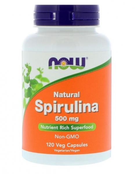 Now Natural Spirulina 120 veg caps [0]