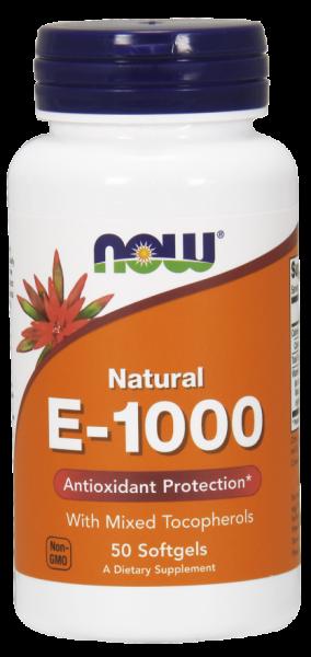 Now Natural E 1000 50 softgels 0