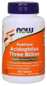 Now Stabilized Acidophilus Three Billion 180 tab 0