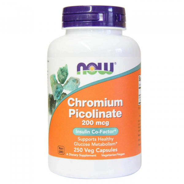 Now Chromium Picolinate 200 mcg 250 veg caps 0