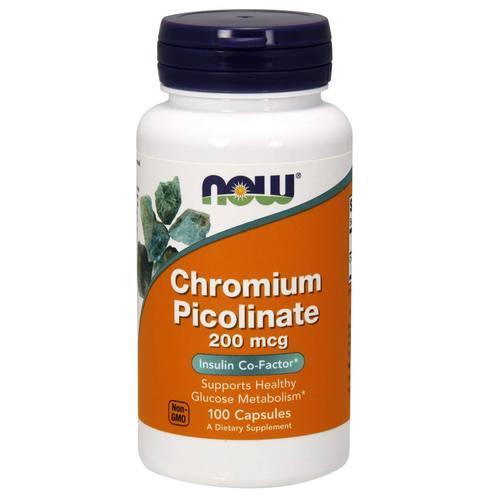 Now Chromium Picolinate 200 mcg 100 vcaps 0