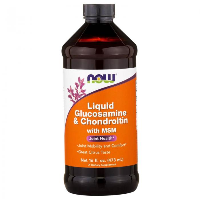 Now Liquid Glucosamine & Chondroitin + MSM 473 ml 0