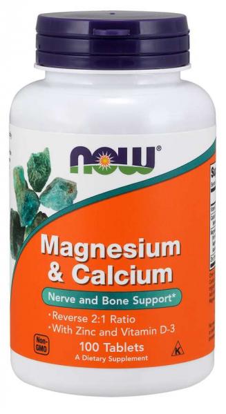 Now Magnesium&Calcium + Zinc & Vit D3 100 tab 0