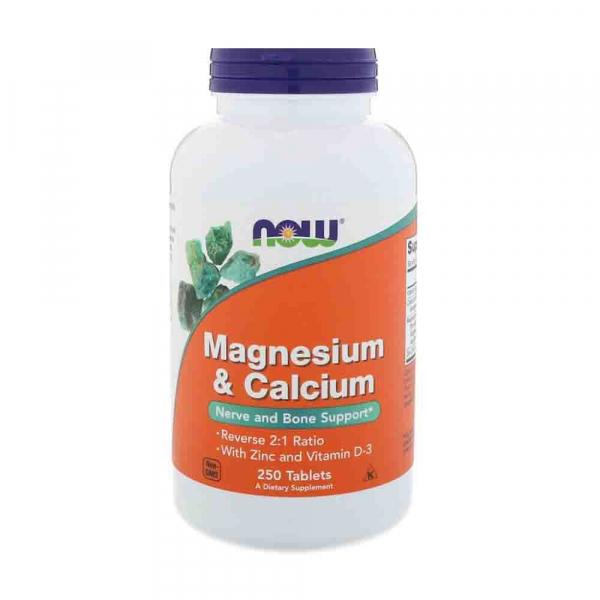 Now Magnesium&Calcium + Zinc & Vit D3 250 tab 0