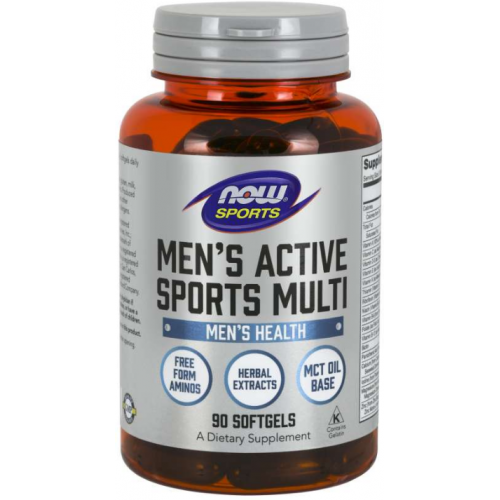 Now Men`s Active Sports Multi 90 softgels 0
