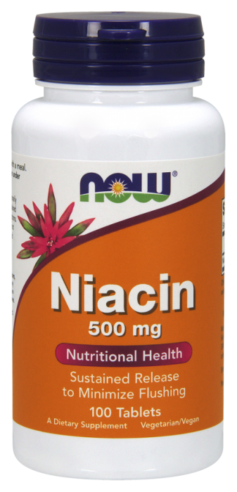 Now Niacin 500 mg 100 tab