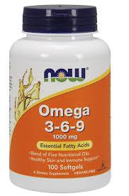 NOW Omega 3-6-9 1000mg 100 softgel 0
