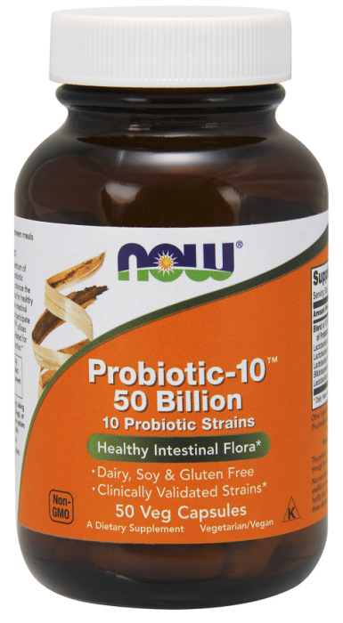 Now Probiotic-10 50 billion 50 veg caps