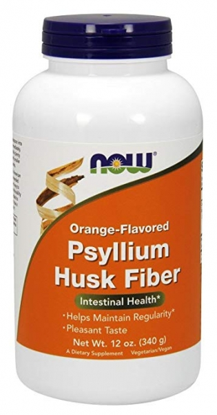 Now Psyllium Husk Fiber 340g Orange Flavored