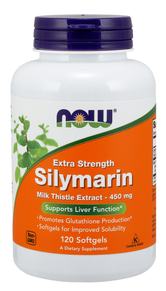 Now Silymarin Extra Strength 450 mg 120 softgels 0