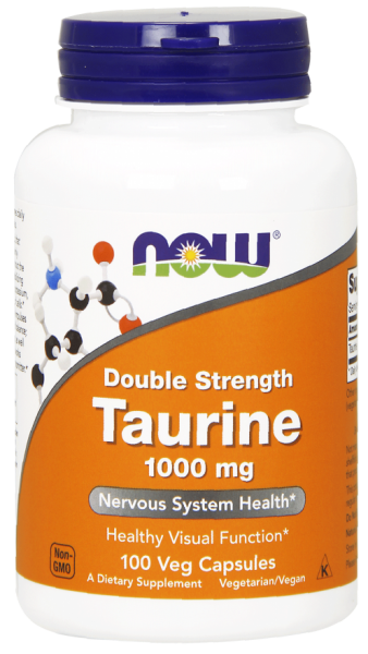 Now Taurine 1000 mg 100 veg caps 0