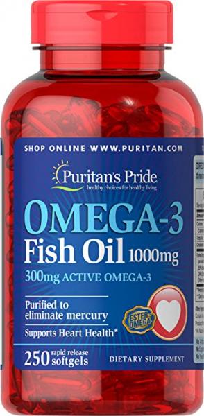 Puritan`s Pride Omega 3 Fish Oil 1000mg 250 softgel 0