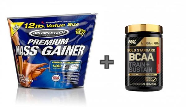 Muscletech Premium Mass Gainer 5,4 kg  + ON Gold Standard BCAA 28 serv 0