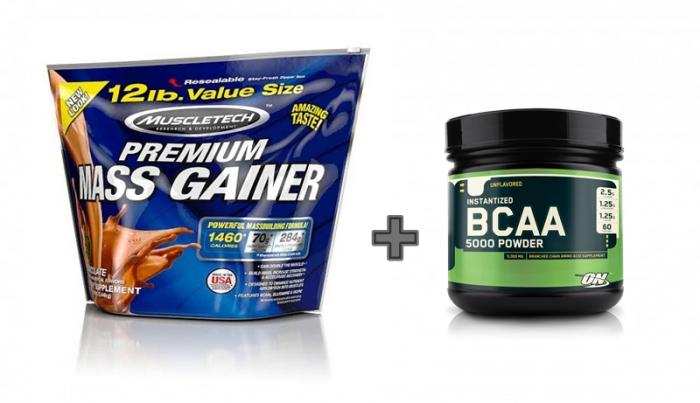 Muscletech Premium Mass Gainer 5,4 kg+ ON BCAA Powder 345 g 0