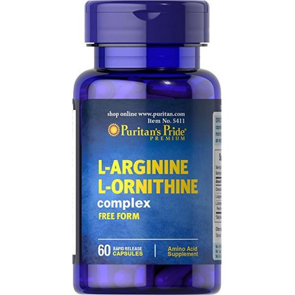 Puritan`s Pride L-Arginine L-Ornithine 1000 mg/ 500 mg 60 caps [0]