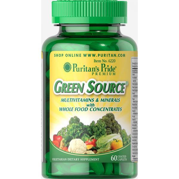Puritan`s Pride Green Source Multivitamin & Minerals 60 caps 0