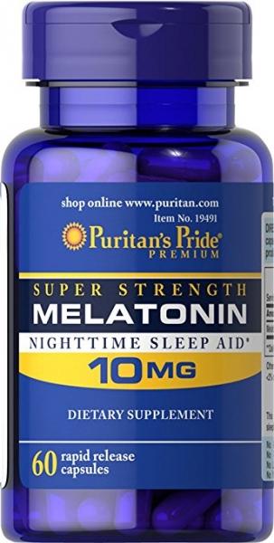 Puritan`s Pride Melatonin 10 mg 60 caps 0