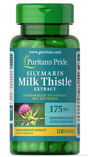 Puritan`s Pride Milk Thistle Standardized 175 mg 100 caps 0