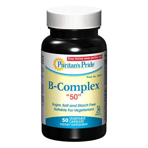 "Puritan`s Pride B Complex ""50""  50 caps 0"