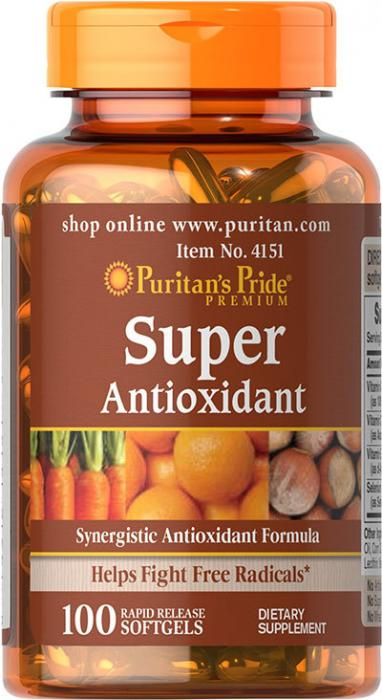 Puritan`s Pride Super Antioxidant Forumula 100 softgel 0