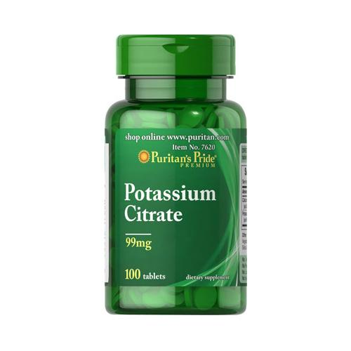 Puritan`s Pride Potassium Citrate 99mg 100 tabs 0