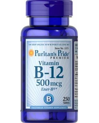 Puritan's Pride Vitamin B-12 500 mcg 100 tab 0