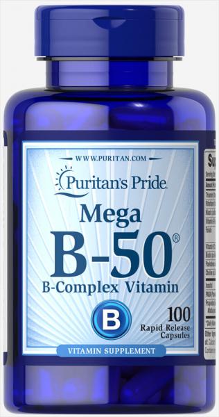 Puritan's Pride Vitamin B-50 Complex 100 caps 0