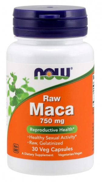 Now Maca Raw 750 mg 30 vcaps 0