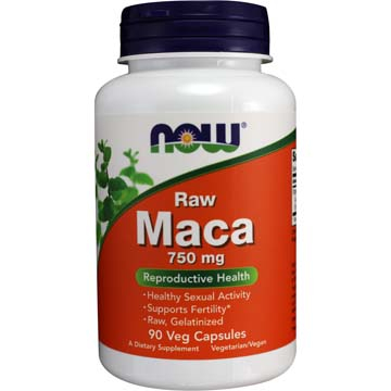 Now Maca Raw 750 mg 90 vcaps 0