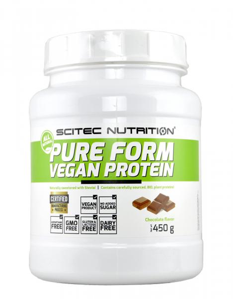 Scitec Pure Form Vegan Protein 450 g 0