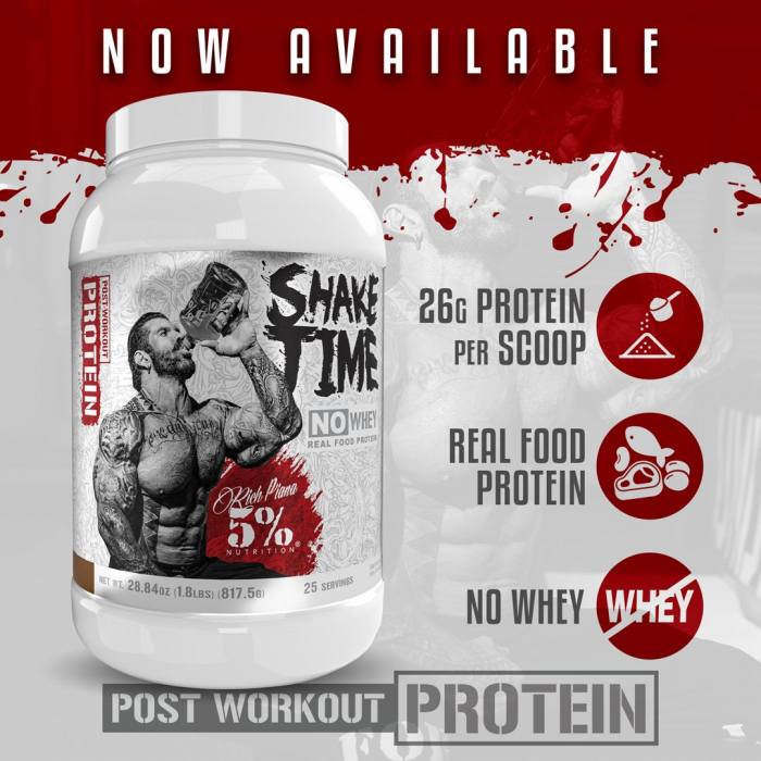 5% Nutrition by Rich Piana Shake Time [0]