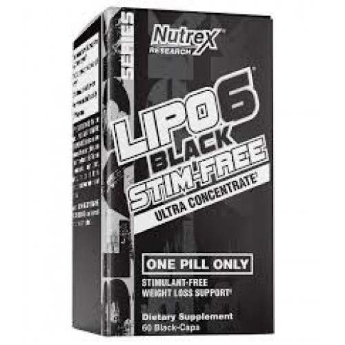 Nutrex Lipo 6 Black Stim-Free Ultra Concentrate 60 caps 0