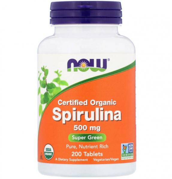 Now Spirulina 200 tab 0