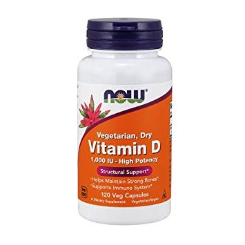 Now Vitamin D 1000 IU Vegetarian Dry 120 veg caps 0