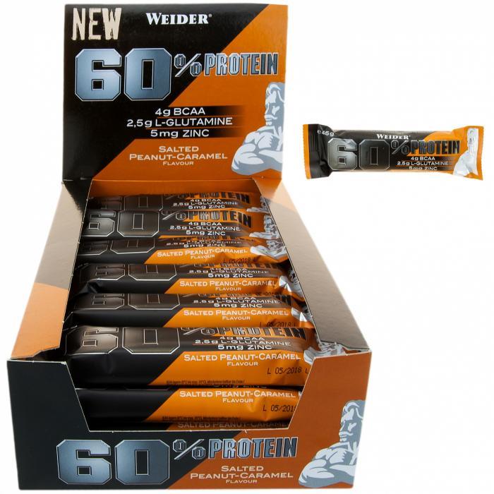 Baton Weider 60% Proteie Whey 45g | Dietă, muschi fără grăsime 0