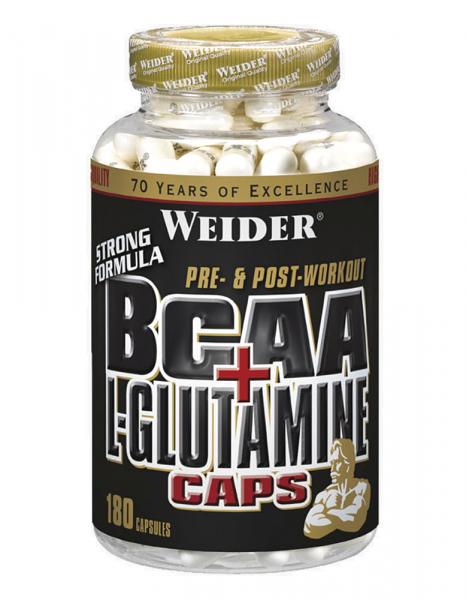 Weider BCAA+ L-glutamine 180 caps 0