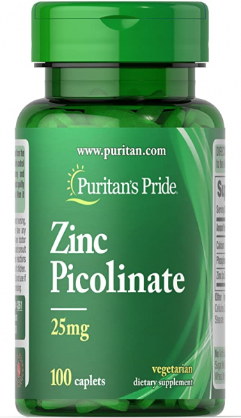 Puritan`s Pride Zinc Picolinate 25 mg 100 caplets [0]