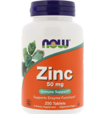 Now Foods Zinc 50 mg 250 tablets [0]