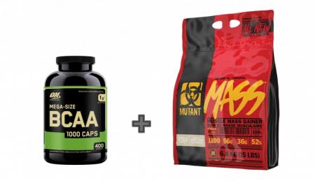Mutant Mass 6.8 kg + ON BCAA 1000 400 caps
