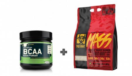Mutant Mass 6.8 kg+ ON BCAA Powder 345 g