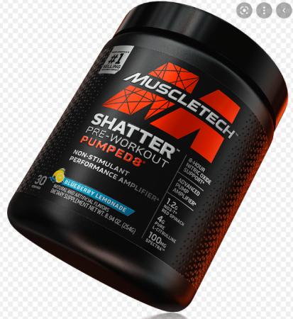 Muscletech Shatter Pre-Workout Pumped8 30 serv
