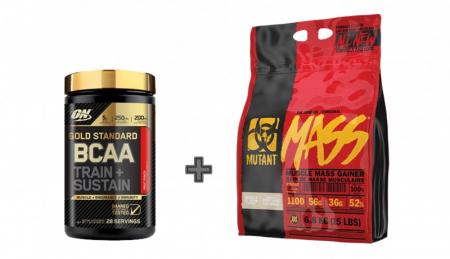 Mutant Mass 6.8 kg + ON Gold Standard BCAA 28 serv