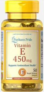 Puritan`s Pride Vitamin E 450 mg 50 softgels
