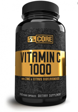 5% NUTRITION VITAMIN C 1000 - CORE SERIES - 240 VCAPS