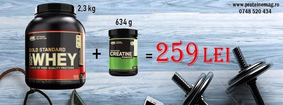 ON Whey gold 2,3kg + ON Creatine 634 gr
