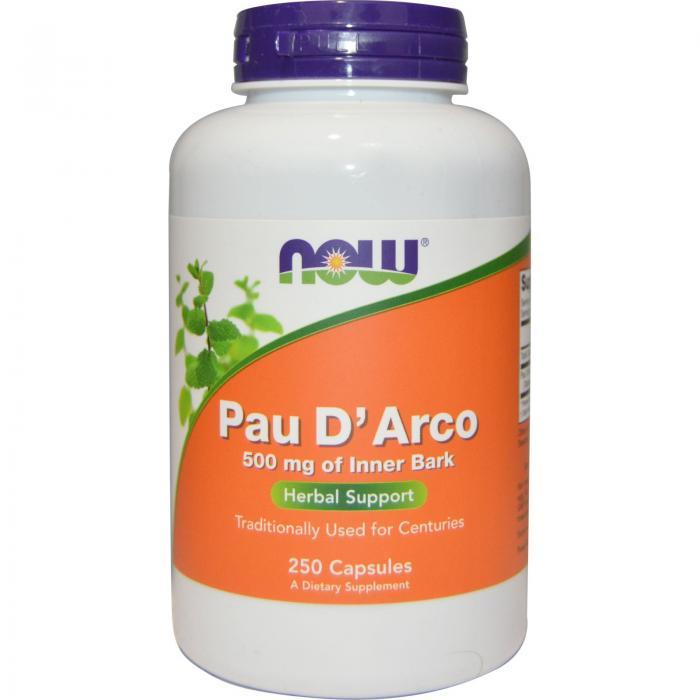 Now Pau D`arco 500 mg 250 veg caps