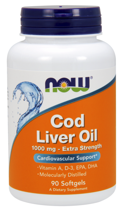 Now Cod Liver Oil 1000 mg 90 softgel