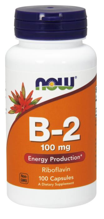 Now Vitamin B-2 100mg 100 caps
