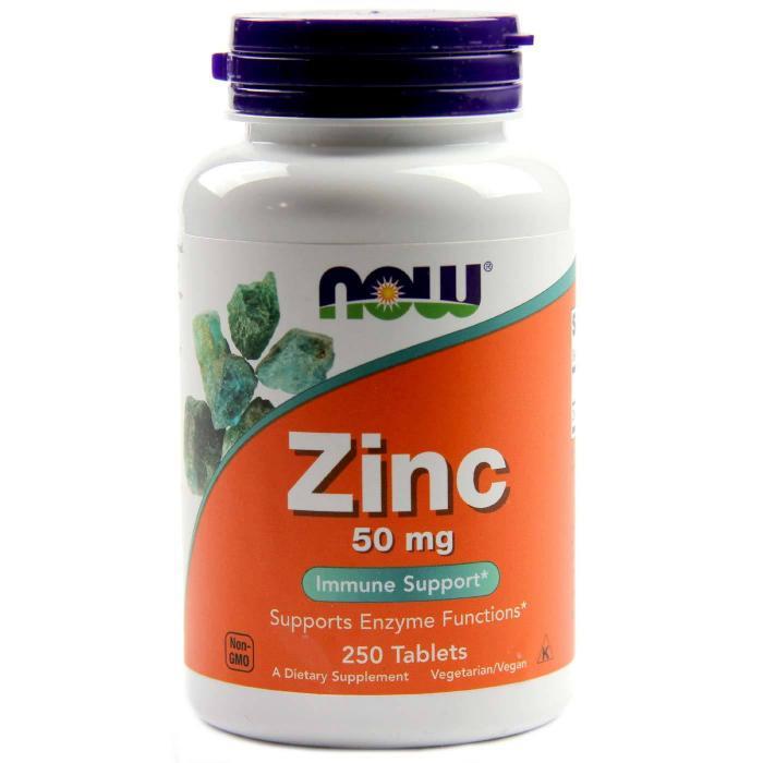 Now Zinc 50mg 100 tablete