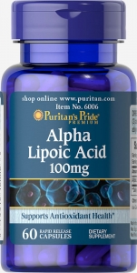 Puritan`s Pride Alpha Lipoic Acid 100 mg 60 caps